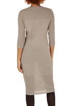 edit - Pencil Knitwear Dress Stone/Beige