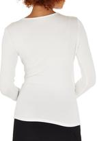 edit - Long Sleeve Wrap T-shirt Milk