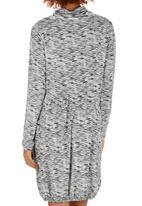 Slick - Alexi Drawstring Neck Dress Black and White