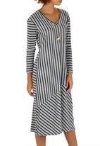 Slick - Gayle V-neck Styled Dress Grey