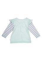 Precioux Baby - Long-sleeve Top with Stripes Green Light Green