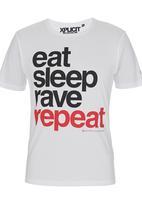 Xplicit - Rave Repeat T-shirt White