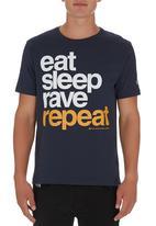 Xplicit - Rave Repeat T-shirt Navy