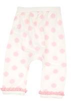 Soobe - Printed Sweatpants. White