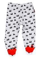 Soobe - Printed Pants Pale Grey