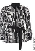 City Chic - City scape shirt Black/White