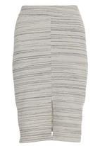 edit - Stripe Pencil Skirt Stone