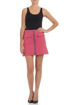 c(inch) - A-line mini skirt Dark Pink