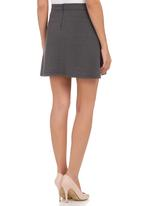 c(inch) - A-line High-waisted Skirt Grey Dark Grey