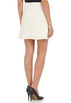 c(inch) - A-line High-waist Skirt Milk