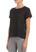 c(inch) - Open-back T-shirt Black