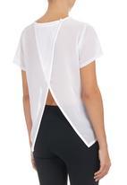 c(inch) - Open-back T-shirt White
