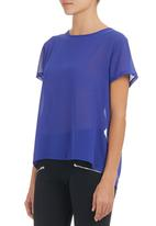 c(inch) - Open-back T-shirt Mid Blue Mid Blue