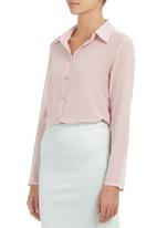 c(inch) - Square Detail Shirt Neutral Pale Pink