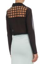 c(inch) - Square-detail Shirt Black
