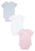 Soobe - 3 Pack Printed Babygrows Multi-colour