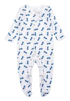 Soobe - 2 Pack Babygrow Blue and White