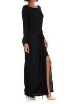 ELIGERE - Ruffle Jersey Gown Black