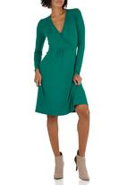 edit - Wrap Dress Green