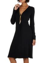 edit - Wrap Dress Black