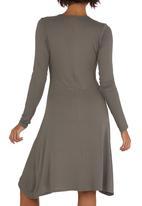 edit - Wrap Dress Stone/Beige