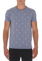 Rip Curl - Jonny Palm T- shirt Mid Blue Mid Blue