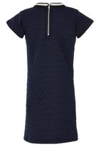 See-Saw - Short Sleeve Textured Dress Navy