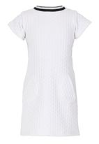 See-Saw - Short Sleeve Textured Dress White