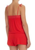 edge - Lace Boobtube Jumpsuit Red