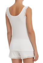 edge - Strappy Vest with Frill Detail Milk