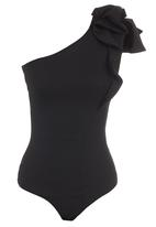 Gert-Johan Coetzee - Frill Bodysuit Black