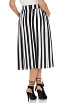 GOOD CLOTHING - Long High-waisted Skirt Black and White