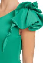 Gert-Johan Coetzee - Frill Body Suit Dark Green