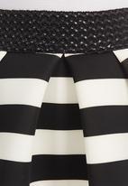 Mishah - Black and White Skater Skirt Black and White