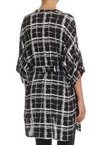 Fortune - Tunic with 3/4 sleeves Black and White