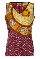 AfroDizzy - African-print Camisole Pink