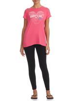 Rip Curl - T-shirt Dark Pink Dark Pink