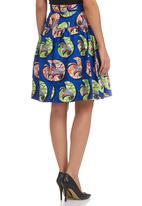 AfroDizzy - High-waisted Skirt Multi-colour
