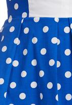 adam&eve; - Gaye Top with Polka Dots Blue/White Blue and White