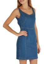 c(inch) - Denim Bodycon dress Pale Blue