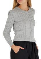 Amara Reya - Cable Knit Cardigan Grey