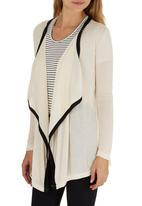 ZANZEA - Lightweight Waterfall Cardigan Cream