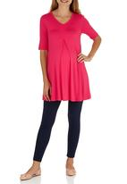 Cherry Melon - Inverted Pleat Top Coral