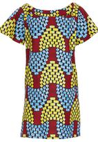 AfroDizzy - African-print Boxy Tunic Blue