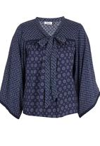 ONLY - Hehla Patterned Tunic Navy