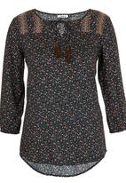 ONLY - Chamenz Patterned Tunic Dark Green