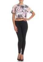 All About Eve - Flower-print Crop Top Multi-colour