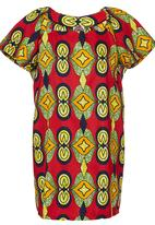 AfroDizzy - African-print Boxy Tunic Green