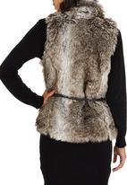 ONLY - Bilbao Faux Fur Waistcoat Grey