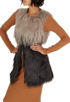 ONLY - Favourite Faux Fur Waistcoat Multi-colour